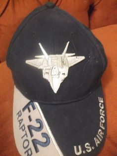 F-22 Raptor Hat Cap U.S. Air Force USAF Baseball Cap 5798  EagleCrest   c7de77bb9da8