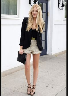 New Year's Eve outfit - Sequin shorts
