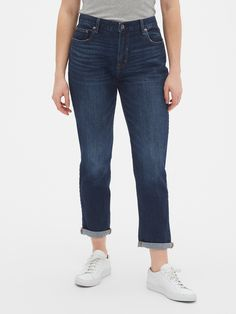 Mid Rise Girlfriend Jeans | Gap