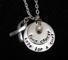 Lung Cancer Hope for a Cure Necklace by TheJewelryChicks on Etsy, $30.00