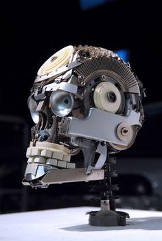 Cool Typewriter #Skull #art