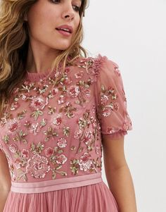 Browse online for the newest Needle & Thread embellished tiered tulle maxi dress in rouge styles. Shop easier with ASOS' multiple payments and return options (Ts&Cs apply). Formal Dresses For Women, Formal Evening Dresses, Pretty Prom Dresses, Nice Dresses, 80s Fashion, Fashion Dresses, Fashion Online, Womens Fashion, Fashion Tips