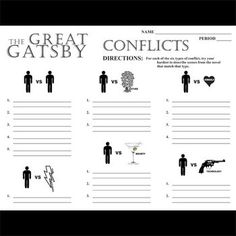 the great gatsby conflicts and confrontation The great gatsby study guide explore  what does she say and do that help reveal her inner conflicts  why does gatsby lose daisy during the confrontation at .
