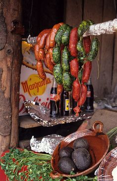 Green Sausages at La Marquesa by Ilhuicamina, via Flickr