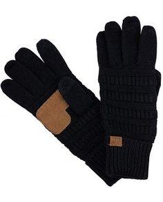 C Unisex Cable Knit Winter Warm Anti-Slip Touchscreen Texting Gloves - Brown Metallic Best Winter Gloves, Best Gloves, Knit Mittens, Knitted Gloves, Cold Weather Gloves, Chilly Weather, Texting Gloves, Ladies Party, Unisex