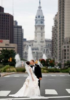 Brides: An Elegant Philadelphia Wedding%26mdash;the Bride Wore Monique Lhuillier%26mdash;with Historic Flair
