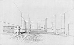 Art Museum, Tallinn, Estonia by Alvar Aalto. Project sketch. #alvaraalto