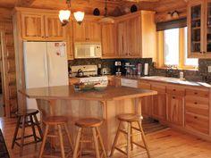 3 bedroom 2 bath basement log cabin    Andersen Log Homes Co. >> Gallery