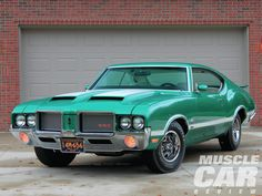 1972 Oldsmobile Cutlass W-30 4-4-2, Ram-Air 455 4bbl V8/Wide-Ratio 4speed/3.73 Positraction w/W27 girdle cover