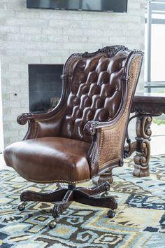 Oakley Alligator Executive Swivel   Brumbaugh's Fine Home Furnishings Classic Office Furniture, Home Office Furniture Design, Log Cabin Furniture, Rustic Wood Furniture, Western Furniture, Home Decor Furniture, Home Furnishings, Royal Chair, Rustic Cabin Decor
