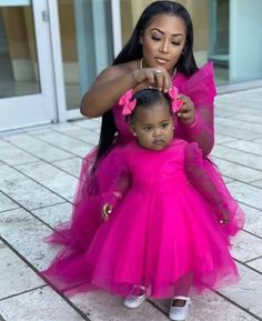 Mother Daughter Outfits, Mom Daughter, Daughters, African American Fashion, Cute Baby Shower Ideas, Beautiful Black Babies, Expecting Baby, Family Outfits, Mother And Baby