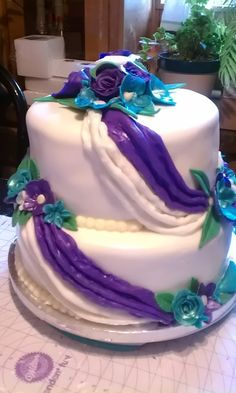 wedding colors purple and teal - Google Search