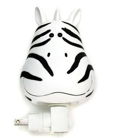 Take a look at the Whimsy Zebra Head Night Light on #zulily today!