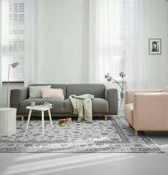 pink and grey interior tones