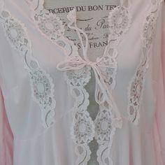 Vestaglia Shabby chic rosa VINTAGE Dressing gown wedding VINTAGE
