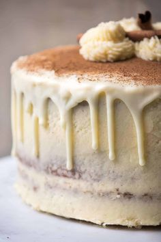 Christmas in a bite! This holiday dessert is and ultra moist 3-layer cake laced with warming spices, a touch of heat and hint of apple cloaked in festive eggnog buttercream. #christmasdesserts #holidaybaking