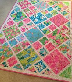 Sweet Tooth with Lilly Pulitzer fabric by QuiltsByNancyGilmore