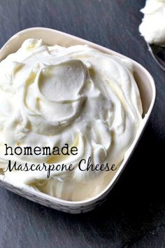 Homemade Mascarpone Cheese – only 2 ingredients! Homemade Mascarpone Cheese – only 2 ingredients! Fromage Cheese, Mascarpone Cheese, Mascarpone Recipes, How To Make Cheese, Food To Make, Making Cheese, Food Storage, Cheese Recipes, Cooking Recipes