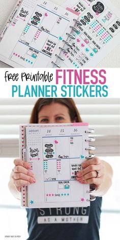 Rock Your Goals with a FREE Fitness Planner Stickers Printable FREE printable fitness planner stickers to fit Happy Planner and more! These fitness planner stickers are perfect to track workouts, fitness goals, and more. LOVE these for staying motivated! Fitness Workouts, Planet Fitness Workout, Fitness Goals, Fun Workouts, Free Fitness, Fitness Motivation, Fitness Style, Fitness Diet, Mens Fitness