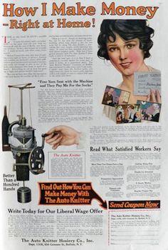 1920 Auto Knitter Sock Knitting Machine Ad