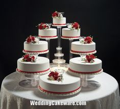 12 Wedding Cakes Tiers Stands Photo - Cascading Wedding Cake ...