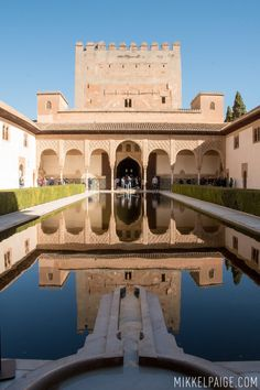 One Perfect Day in Granada Spain. Photos and itinerary on Sometimes Home travel blog. Picture of the Alhambra palace.