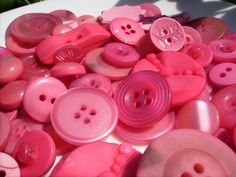 Beautiful pink buttons!