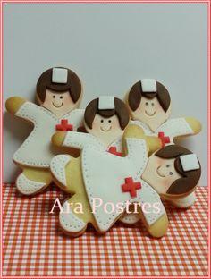 Galletas de enfermeras decoradas con fondant #arapostres