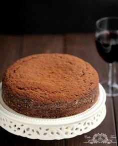 vegan chocolate cake with wine