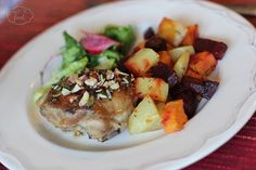 Chicken thighs with seeds - Pulpe de pui cu seminte Chicken Thighs, Potato Salad, Main Dishes, Seeds, Potatoes, Ethnic Recipes, Food, Main Courses, Entrees