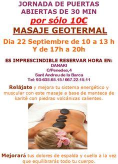 Puertas abiertas geotermal  http://www.danaki.es/masaje-geotermal/