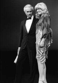Michelangelo Antonioni and Monica Vitti at the 1982 Cannes Film Festival.