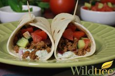 Ground Lamb Greek Tacos