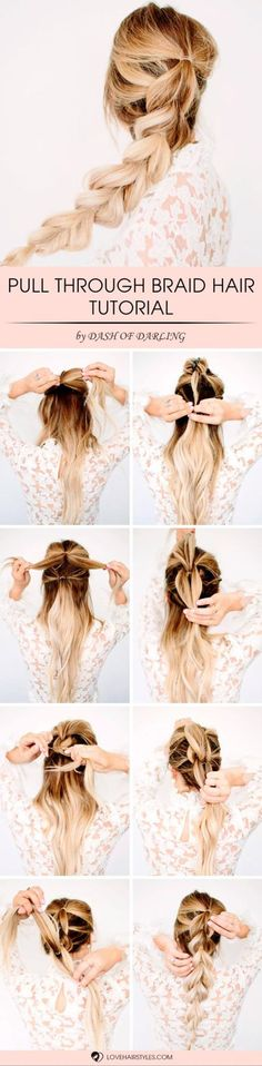 Quick Braids for When You re in a Rush to Get Ready These 11 Easy amp; Quick Braids Will Save You so much time!These 11 Easy amp; Quick Braids Will Save You so much time! Braided Hairstyles Tutorials, Pretty Hairstyles, Easy Hairstyles, Hair Tutorials, Hairstyle Ideas, Wedding Hairstyles, Amazing Hairstyles, Layered Hairstyles, Latest Hairstyles