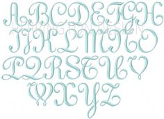 2 inch 3 inch Monogram Font Embroidery Font by HerringtonDesign