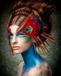 Makeup and Other Special Effects You've Gotta See to Believe . hair & makeup artistry just for a bit of inspiration. she looks like a beautiful bird & makeup artistry just for a bit of inspiration. she looks like a beautiful bird