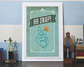 Oh Snap 12x18 Giclee Art Print - By Earmark