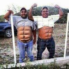 If you don't wanna work for the abs then get Instant abs. two fine examples of temporary instant abs Funny Girls, Funny Couples, You Make Me Laugh, Laugh Out Loud, Funny Cartoons, Funny Jokes, Funny Minion, Funny Laugh, Funny Texts