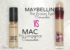 MAC Pro Longwear VS Maybelline The Eraser Eye Concealer /// you save loads of money