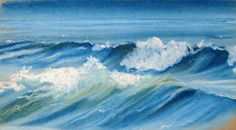 Draw waves with soft pastels - how to