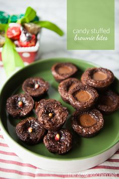 Candy Stuffed Brownie Bites via @Julie | The Little Kitchen