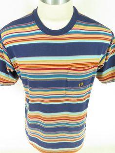93a1e8f43d5a0b Vtg 60s Hang Ten Surfer Striped COTTON T-shirt XL USA MADE