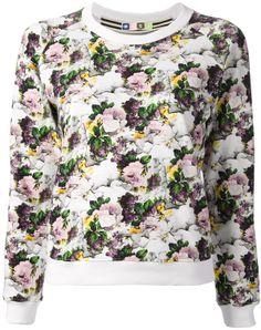 MSGM Floral Sweatshirt on shopstyle.com