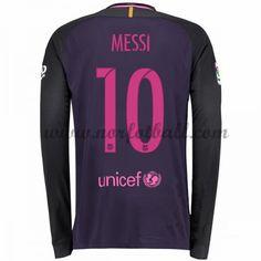 Billige Fotballdrakter Barcelona 2016-17 Messi 10 Borte Draktsett Langermet Messi 10, Lionel Messi, Barcelona Messi, Barcelona 2017, Barcelona Shirt, Neymar Jr, Messi Shirt, Soccer Shirts, Football Soccer