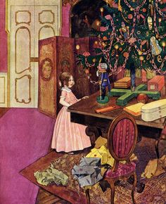 The Nutcracker and the Mouse King' by E. T. A. Hoffmann, illustrated by Artuš Scheiner. Published 1924 in Prague