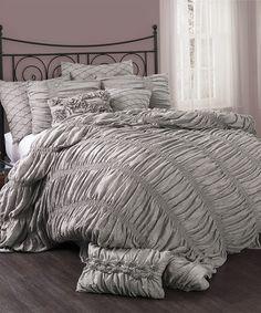 Look at this #zulilyfind! Gray Madelynn Comforter Set #zulilyfinds