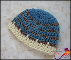 Mamma That Makes: Spikes and Stripes Preemie Beanie Pattern