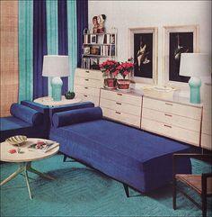 Mid century in blue