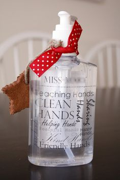 Hand Sanitizer -Teacher Christmas Gifts