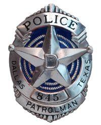 Dallas Texas police badge
